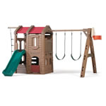 Naturally Playful® Adventure Lodge Play Center - Tan
