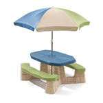 Naturally Playful® Picnic Table with Umbrella - Earth