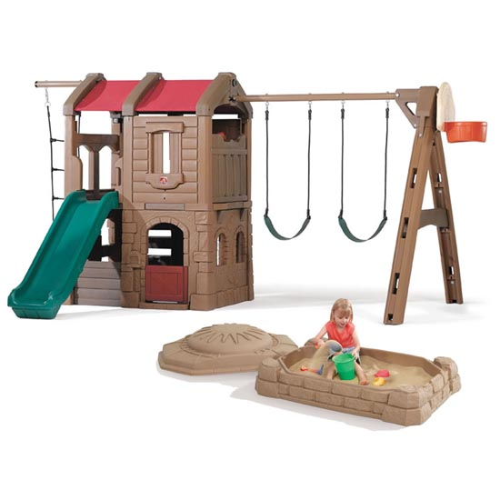 Adventure Lodge Play Center and Sandbox Combo