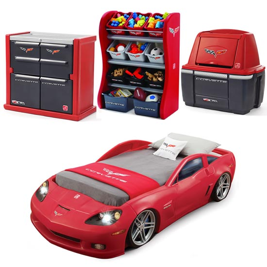 corvette bedroom combo kids furniture by step2