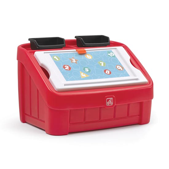 Step2 2-in-1 Toy Box & Art Lid™ - Red