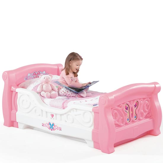 Girls Toddler Sleigh Bed