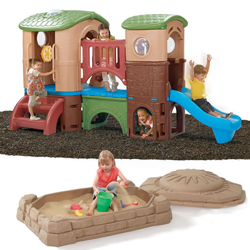 Clubhouse Climber &amp; Sandbox Combo