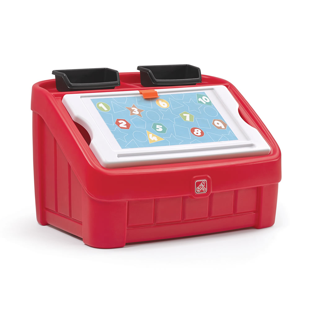 2-in-1 Toy Box & Art Lid™ - Red