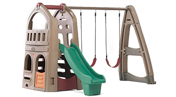 Kids Plastic Backyard Swing Set