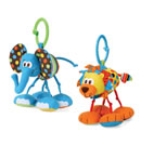 Click to View Product Details for Rattling Jittery Pal - Elephant/Lion