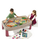 Click to View Product Details for Deluxe Canyon Road Train & Track Table
