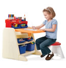 Click to View Product Details for Flip &amp; Doodle Easel Desk with Stool