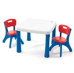 Click to View Product Details for Table &amp; Chairs Set - Primary Colors
