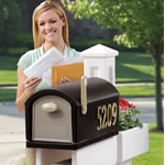Taking mail out of the mailbox
