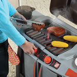 Turn the knobs for a realistic grilling experience