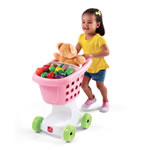 Pink toddler's shopping cart
