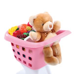Shopping cart fits plush toys and play food accessories