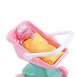 Baby doll in stroller