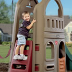 Naturally Playful Playhouse Climber & Swing Extension Playhouse View