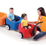 Kids riding in Complete Choo Choo Train Combo