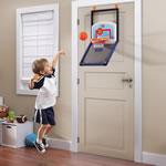 mini basketball set on door