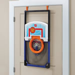 basketball set laying flat on the door