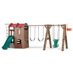 Naturally Playful® Adventure Lodge Play Center with Glider swingset
