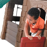 Naturally Playful Adventure Lodge Play Center with Glider Lower Lodge