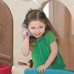 Naturally Playful® Countryside Cottage - girl on telephone