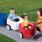 Kids riding in Complete Choo Choo Train Combo - USA Edition