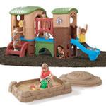 Clubhouse Climber & Sandbox Combo