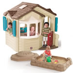 Naturally Playful Welcome Home Playhouse & Sandbox Combo