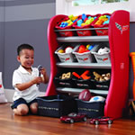 Corvette Room Organizer Front View with child