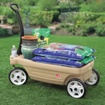 Wagon is perfect for gardening