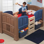 Boy's Loft & Storage Twin Bed Room View