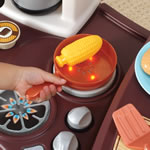 Electronic and realistic stove top