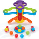 water activity table with play balls