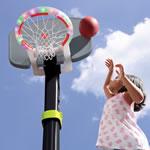 Adjustable plastic basketball set