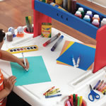 large art desk with plenty of work space for little ones