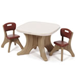durable table and chair set for pretend and creative play