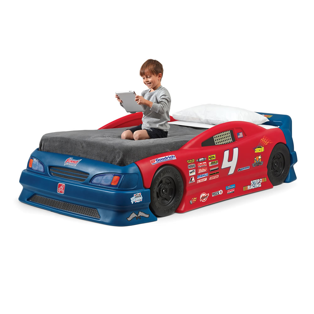 stock car convertible bed kids furniture by step2