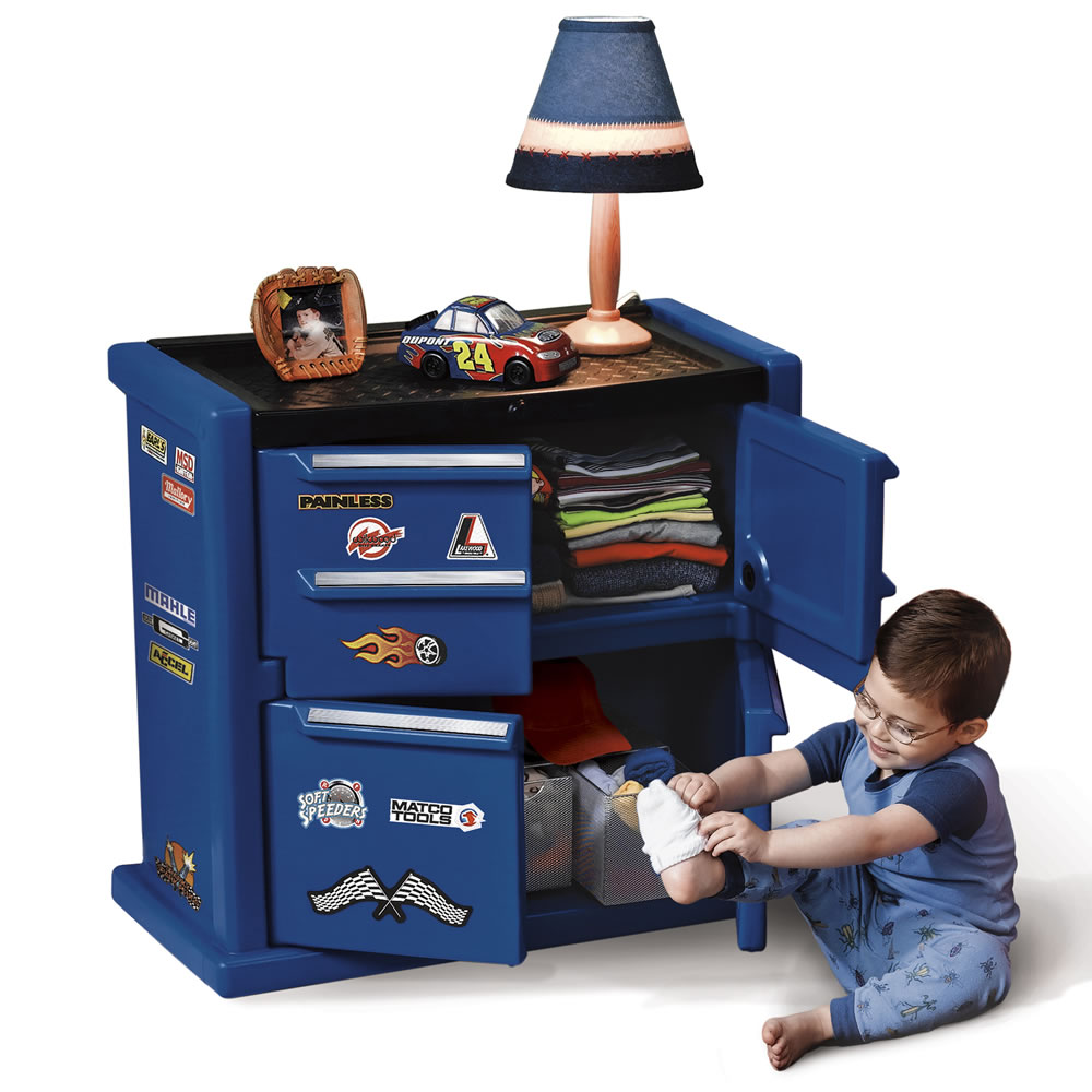 Childrens Jumbo Bedroom Room Tidy Toy Storage Chest Box Trunk: Tool Chest Dresser™