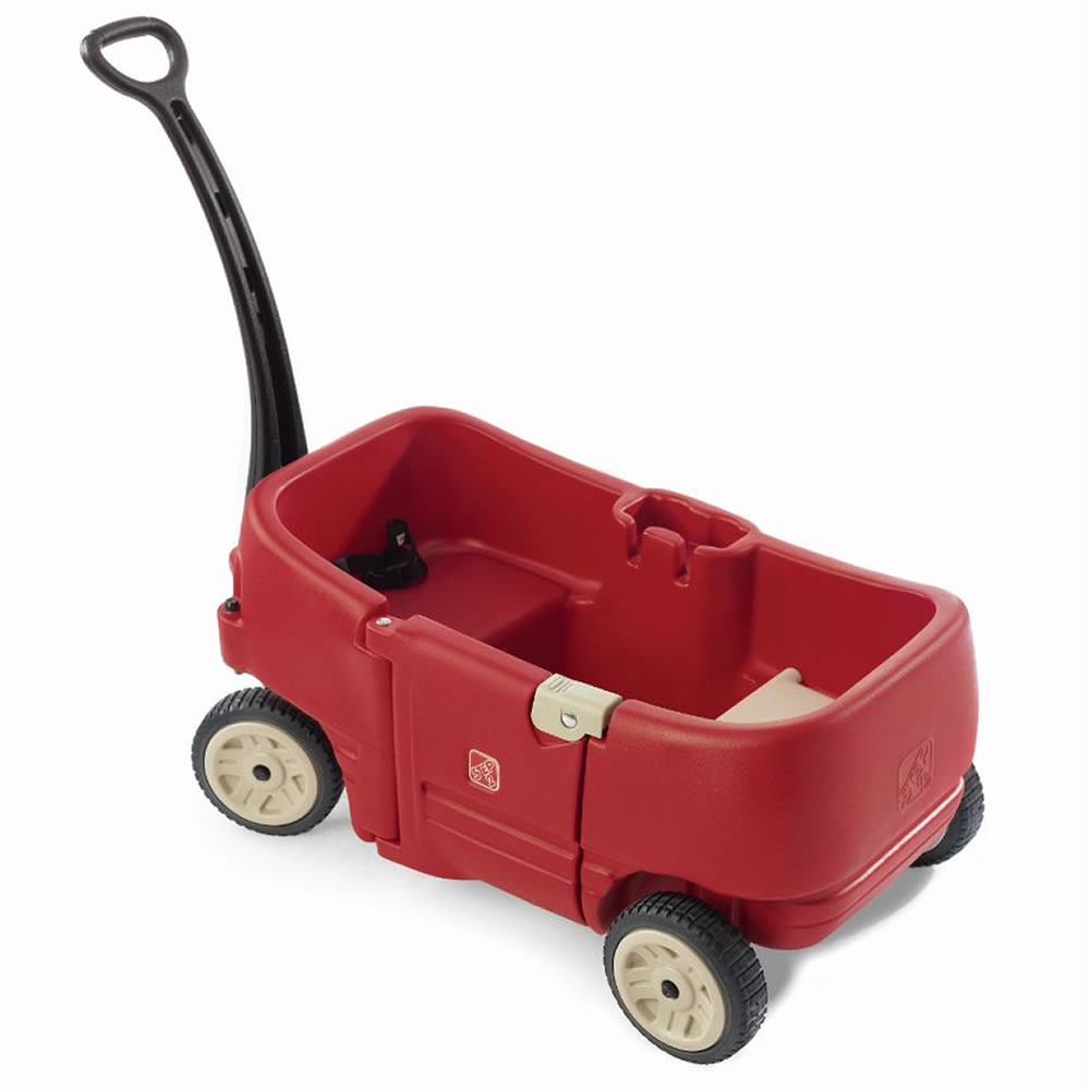 Wagons For Toys : Step wagon for two plus red toddler baby kid beach push