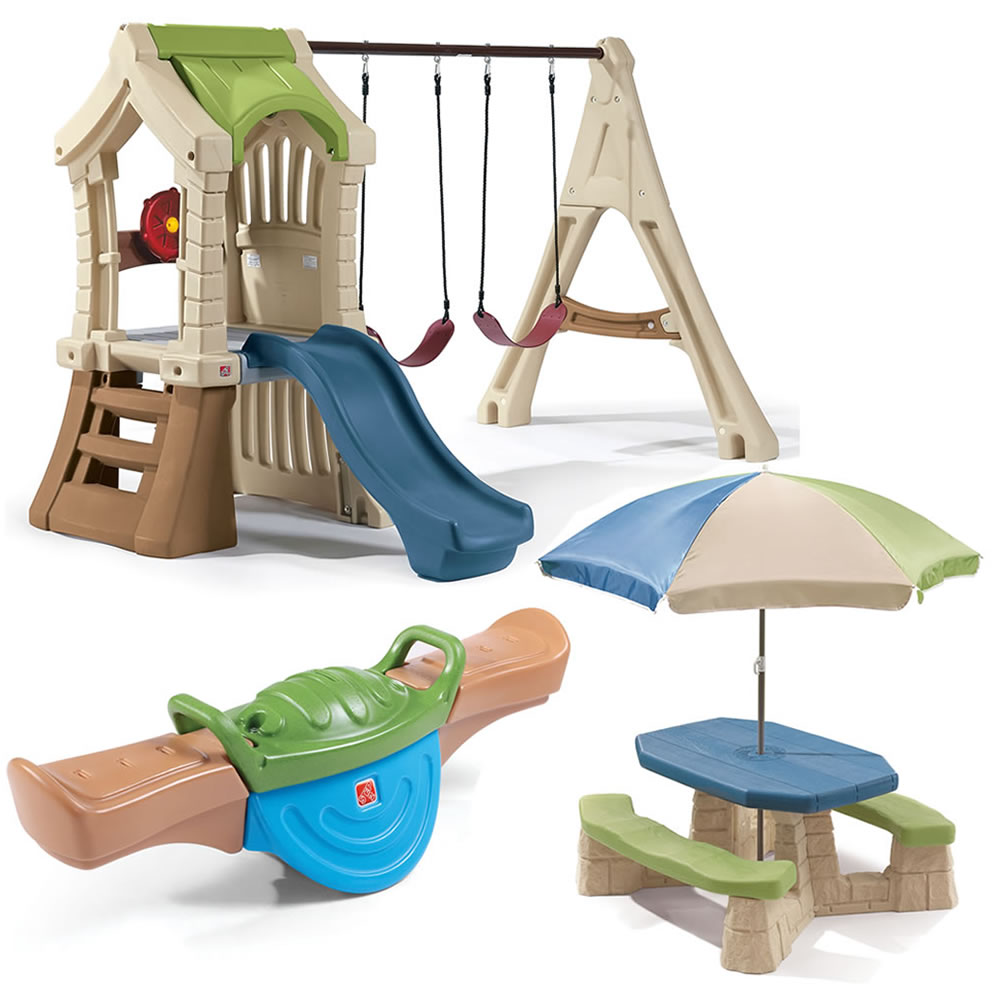 swing and play backyard combo outdoor play by step2