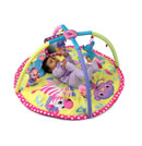 Click to View Product Details for Twist & Fold Gym & Play Mat - Baby Girl Animals