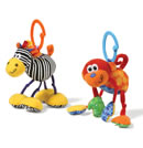 Click to View Product Details for Rattling Jittery Pal - Zebra/Monkey