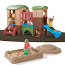 Click to View Product Details for Clubhouse Climber & Sandbox Combo