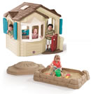 Click to View Product Details for Naturally Playful Welcome Home Playhouse & Sandbox Combo