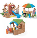 Click to View Product Details for Play Up Playhouse & Climber Toddler Play Set