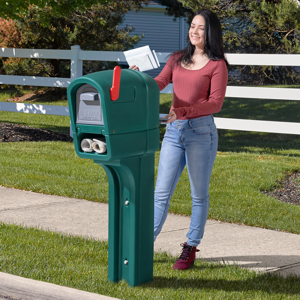 Getting mail from plastic mailbox