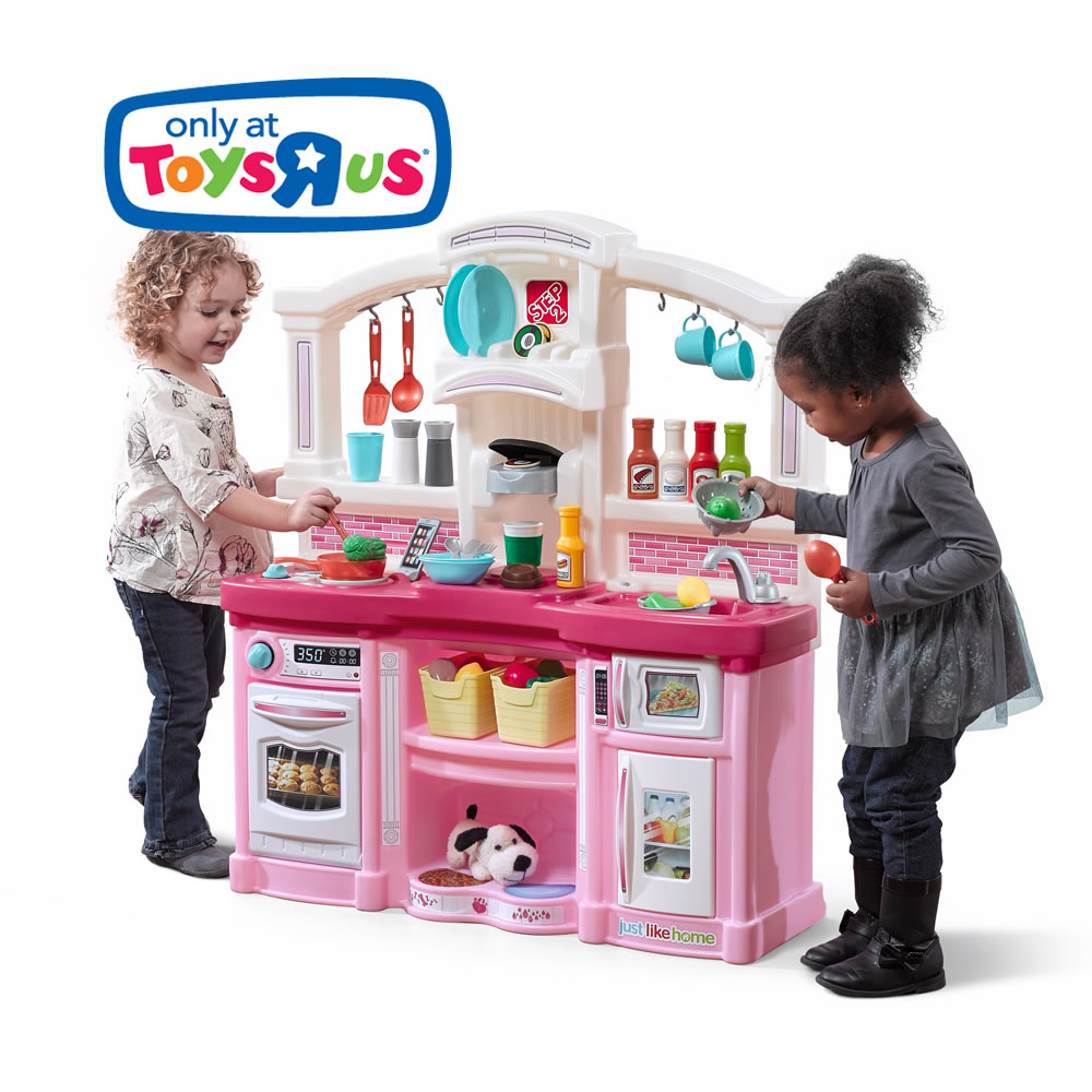 Just like home fun with friends kitchen pink step2 for Kitchen set at toys r us