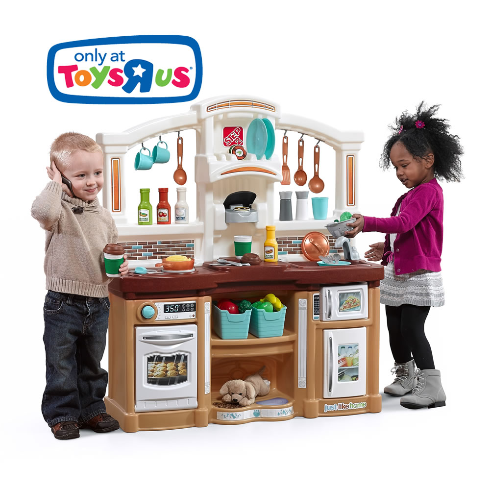 Just like home fun with friends kitchen tan step2 for Kids kitchenette set