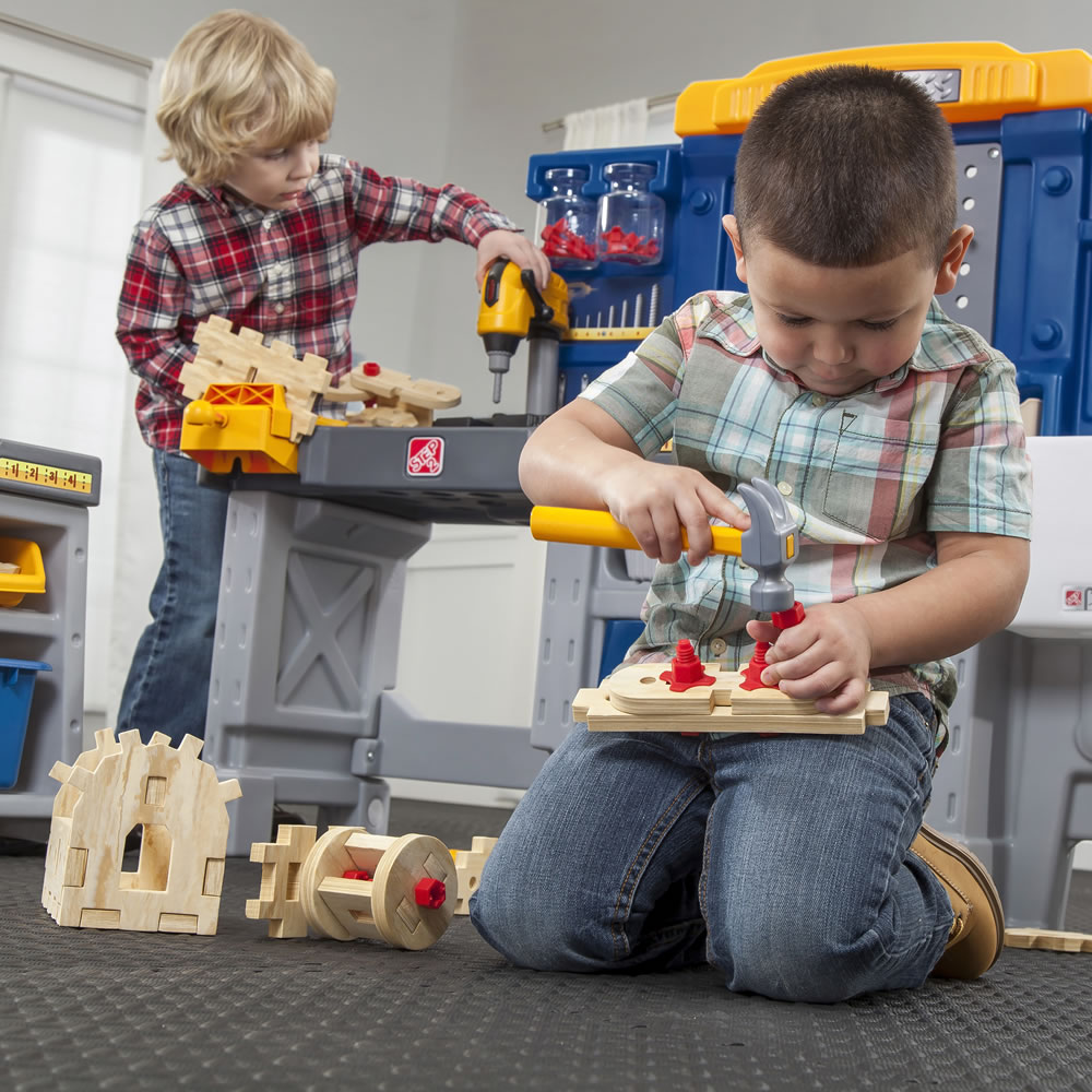 Just Like Home Pro Play Workshop Amp Utility Bench Kids Pretend Play Step2