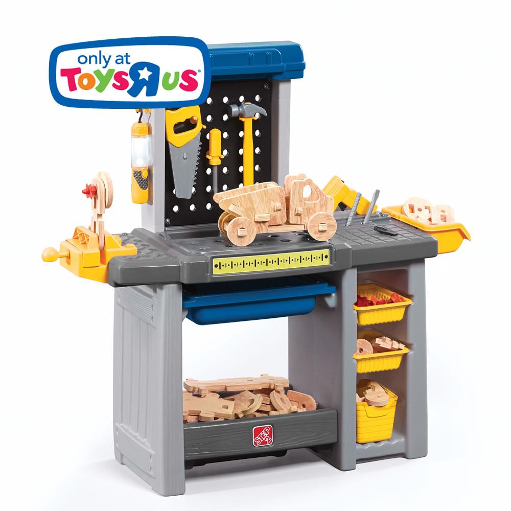 Just Like Home Handyman Workbench Kids Pretend Play Step2